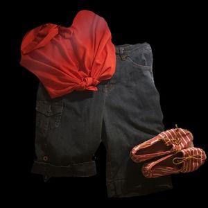Bandolino Women's Blue Jean Shorts Size 14